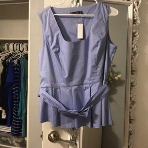 NWT NYCO light blue peplum blouse